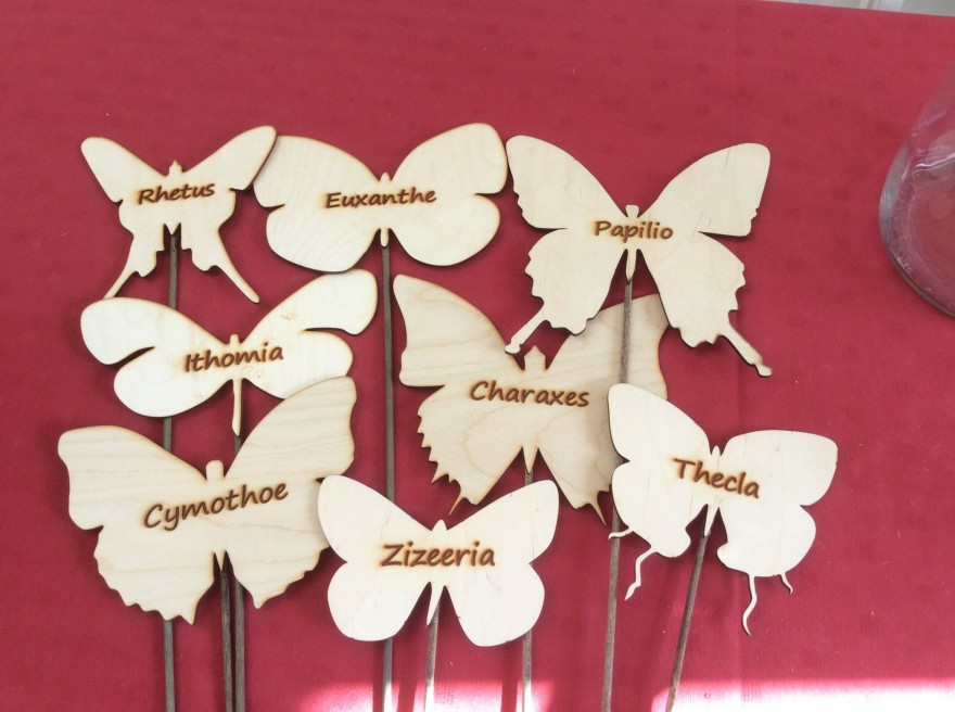 8 butterfly table markers