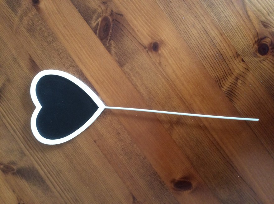 Small blackboard heart marker